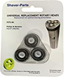 Shaver-Parts Universal Replacement Rotary Shaving Head for Philips Pack of 3 Original No.: HQ167