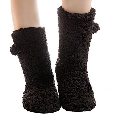 Fralosha boots lady inhome shoes Solid color Black