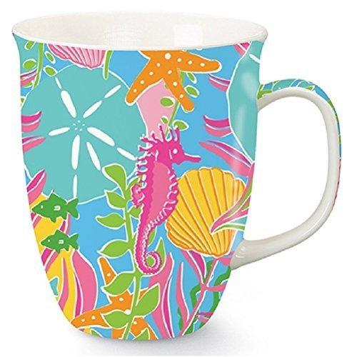 Palm Beach Preppy Latte, Coffee or Tea Mug by Cape Shore