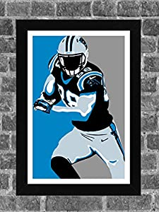 Carolina Panthers Greg Olsen Portrait Sports Print Art 11x17
