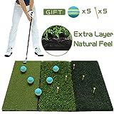 Best Golf Mats - Tri-Turf Golf Hitting Mat, Practice Mat, Foldable Portable Review