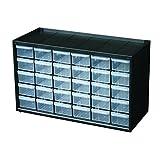 Flambeau 6576NC Hardware and Craft Parts Cabinet Storage Drawer, 30 Drawers