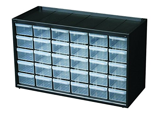 Flambeau 6576NC Hardware and Craft Parts Cabinet Storage Drawer, 30 Drawers - Small Parts Bin