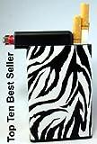 Cigarette Case Zebra Built on Lighter Holder