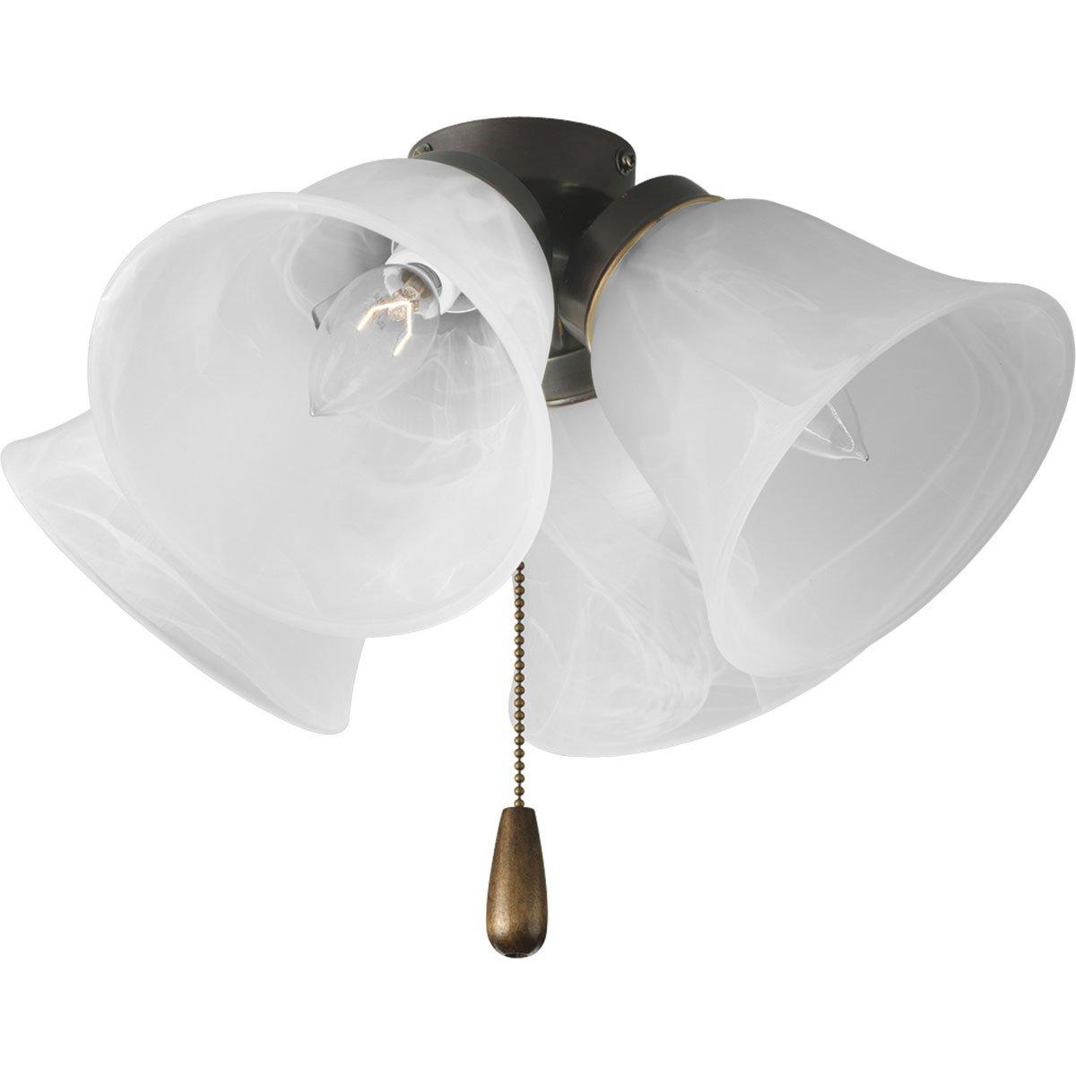 Progress lighting p2643 20 4 light universal fan light kit progress lighting p2643 20 4 light universal fan light kit antique bronze ceiling fan light kits amazon mozeypictures Choice Image