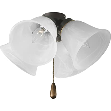 Progress lighting p2643 20 4 light universal fan light kit antique bronze