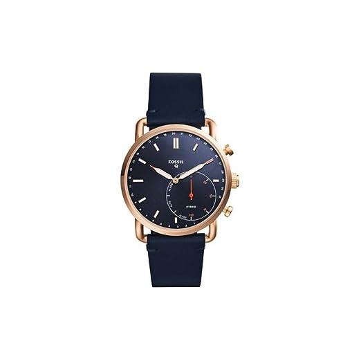 Fossil FTW1154 - Reloj Inteligente híbrido para Hombre, Correa Azul de Oro Rosa: Amazon.es: Relojes