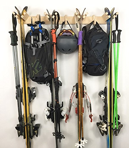 - Pro Board Racks Vertical Ski Storage Rack (Holds 4 Sets of Skis)