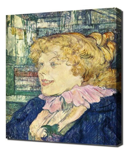 Toulouse Lautrec - The English Girl From The Star - High Quality Reproduction Canvas Art Print (Star Girl Canvas Reproduction)