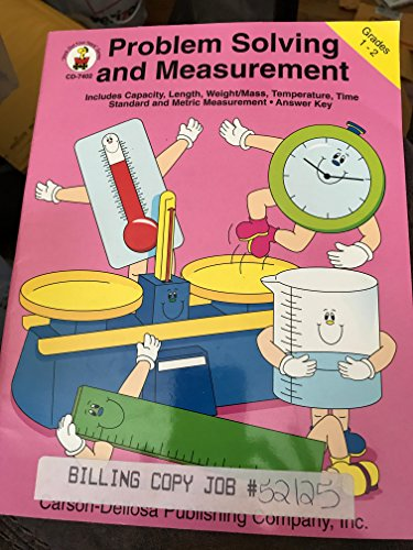problem solving and measurement grades 1-2 includes capacity length weight mass temperature time standard and metric measurement answer -