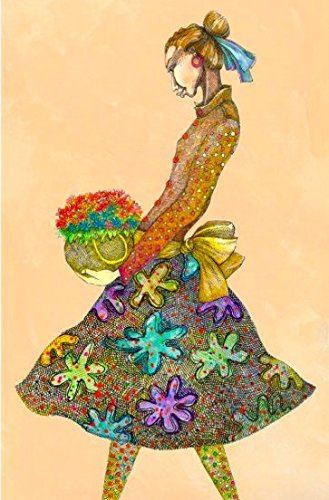 purenet Girl With Daisies by Charles Bibbs Limited Edition print 12X18