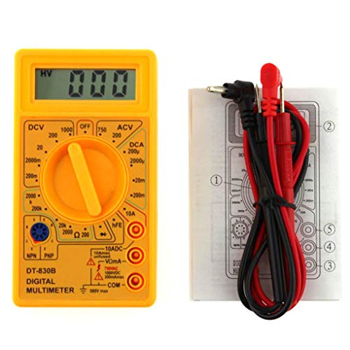 Zerama LCD Digital DT-830B Multimeter Handheld Voltmeter Ohmmeter Ammeter AC DC Voltage Checker OHM DC Circuit Tester