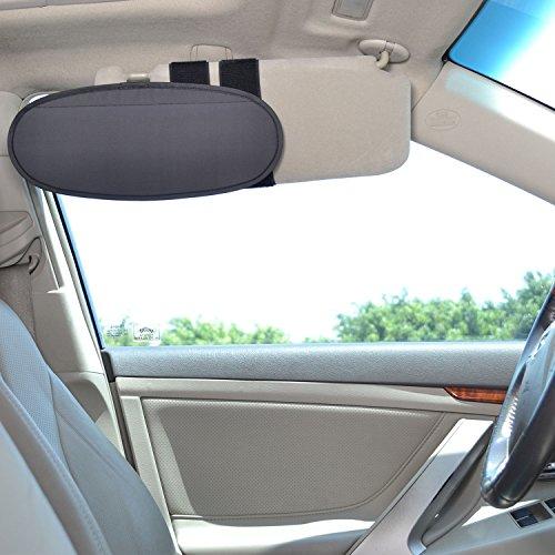 TFY Vehicle Visor Anti-Glare Anti-Dazzle Sunshade Extension Sun Blocker for Cars, Vans and Trucks - - Clear Sunset Visor