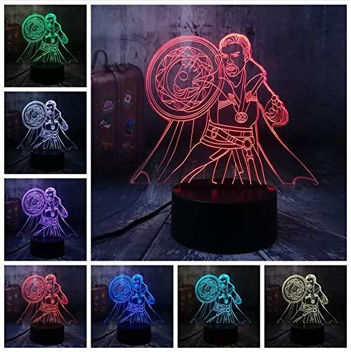 Illusion LED Legends Cool Doctor Seltsame Action-Figuren 3D Nachtlicht Schreibtischlampe Wohnkultur Weihnachtsgeschenk…