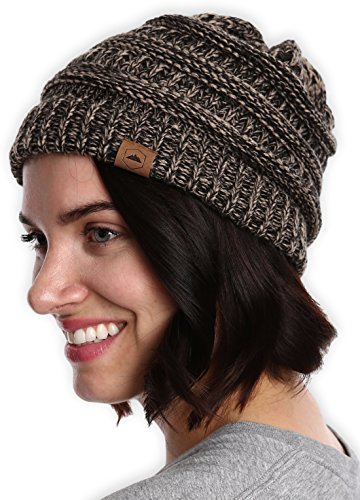 Knit Beanie - Thick, Soft & Warm Chunky Beanie Hats for Women & Men ()