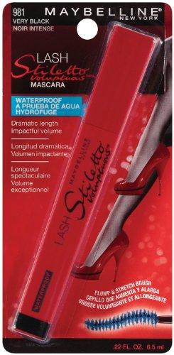 - Maybelline New York Lash Stiletto Voluptuous Waterproof Mascara, Very Black 981, 0.22 Fluid Ounce