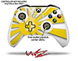 Rising Sun Japanese Flag Yellow - Decal Style Skin Set fits XBOX One S Console and 2 Controllers (XBOX SYSTEM SOLD SEPARATELY)