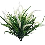 Artificial-Flowers-4pcs-Faux-Plastic-Plants-Shrubs-Simulation-Greenery-for-Wedding-Garden-Farmhouse-Outdoor-Decor-4-Bunches-White