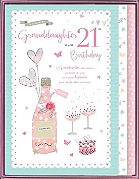 To A Special Granddaughter On Your 21st Birthday Boxed Beautiful Large Card