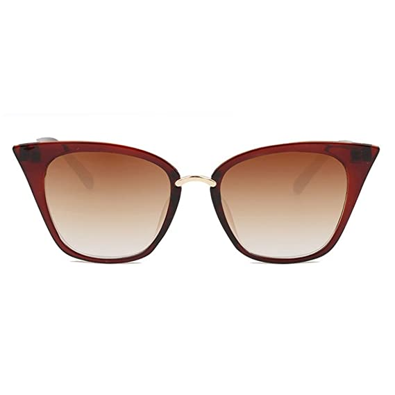 b19e03972a RazMaz Cat-Eye Sun-glasses for Women Latest Stylish - Design Polarized  Lenses with Sunglass Case- UV400 Protection(BrownRed)  Amazon.in  Clothing    ...
