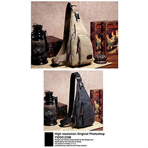 Talla negro bandolera Negro lona hombre Mochila negro small diseño de Xinhenchen militar para Negro vqZzwxCxg