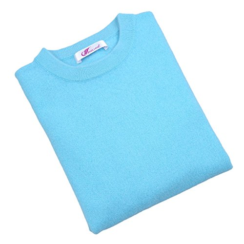 织礼 Zhili Cashmere Men's Crew-Neck Sweater(Sky ()