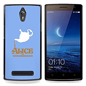 """Qstar Arte & diseño plástico duro Fundas Cover Cubre Hard Case Cover para OPPO Find 7 X9077 X9007 (Alicia en el país Wonderlnd"""")"""