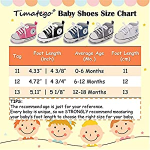 TIMATEGO Baby Girls Boys Canvas Shoes