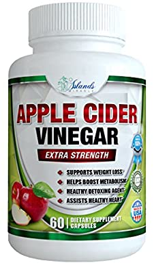 Pure Apple Cider Vinegar Capsules - 1300mg Best ACV Pills Support Digestion, Detox, Cleanser - Supplements Heart Health and Blood Sugar Metabolism