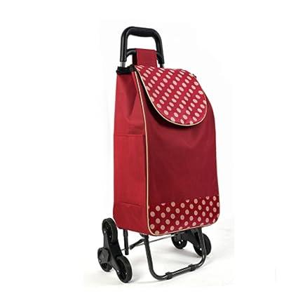 Carrito de la carretilla - cesta de compras plegable 6 ruedas - Carro de la compra