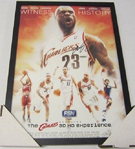 LeBron James Autographed Picture - Kings Academy 2007 framed poster COA - Upper Deck Certified - Autographed NBA (Academy Deck)