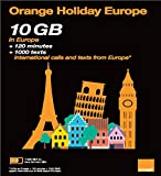 Orange Holiday Europe prepaid SIM card (10GB, 120mn, 1000 SMS)