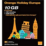 PHONE  Amazon, модель Orange Holiday Europe – Prepaid SIM card – 10GB Internet Data in 4G/LTE (data tethering allowed) + 120 mn + 1000 texts in 30 countries in Europe, артикул B06XBYMX58