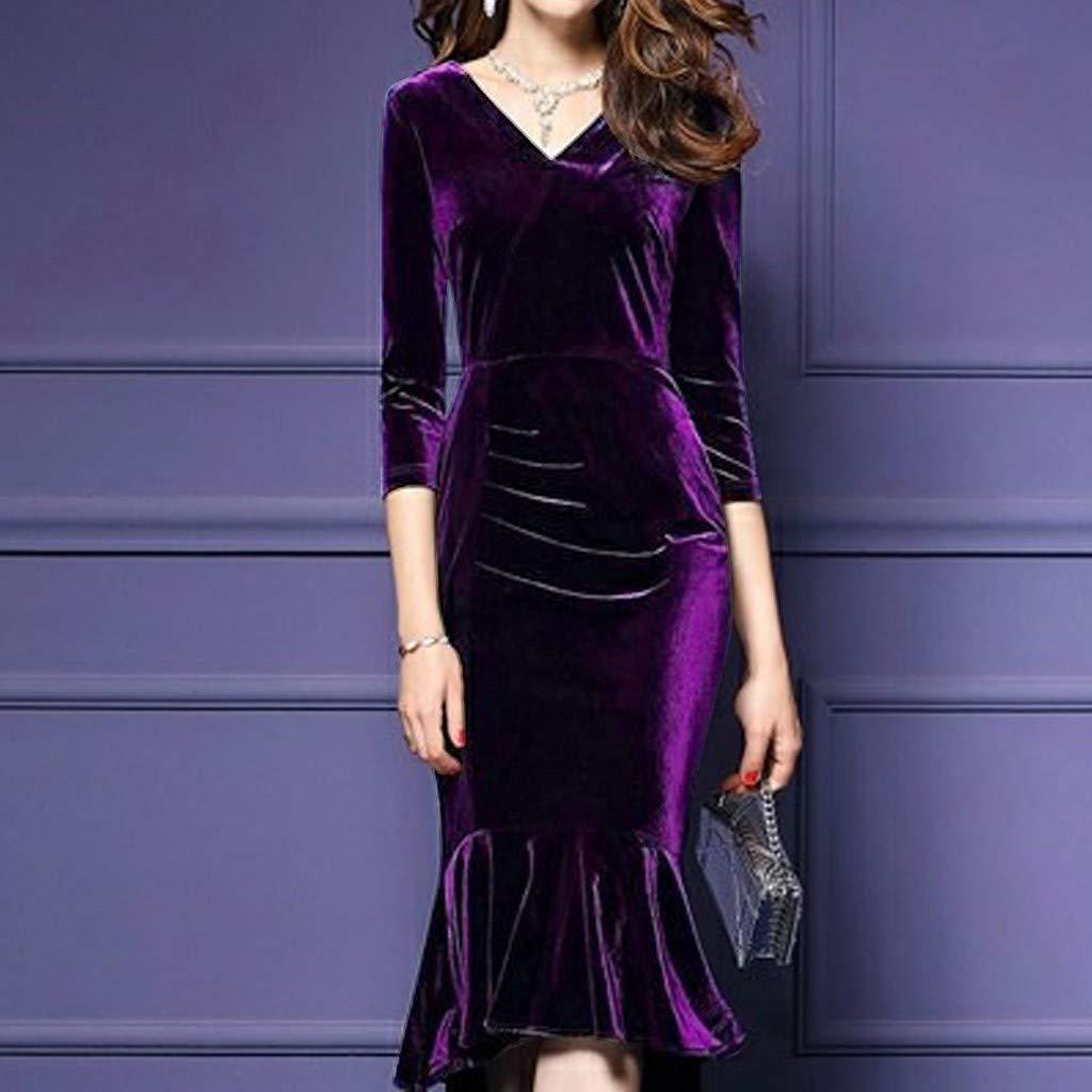 EVENING STUNNING CLUBBING SLEEVELESS BODYCON PURPLE DRESS ONE SIZE REGULAR// 022