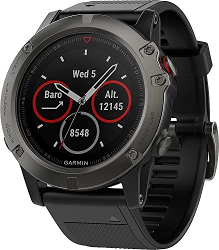 Garmin Fenix 5X Sapphire – Slate Gray with Black Band Renewed