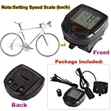 LCD Display Bike Bicycle Cycle Computer Odometer Speedometer Speed Meter NR 16 Function 02 Sporting Goods