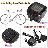LCD Display Bike Bicycle Cycle Computer Odometer Speedometer Speed Meter NR 16 Function