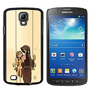 Qstar Arte & diseño plástico duro Fundas Cover Cubre Hard Case Cover para Samsung Galaxy S4 Active i9295 (Pareja Parca)