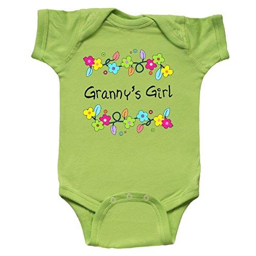 Girl Grannys - inktastic - Grannys Girl- Bright Flowers Infant Creeper 6 Months Key Lime 30a23