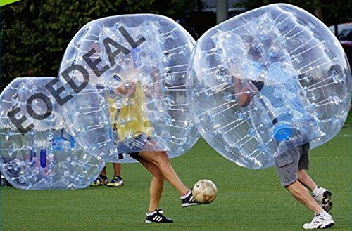 iconiciris Inflatable Bumper Bubble Balls Body Zorb Ball Soccer Bumper Football 1.5m Transparency with Transparency dot