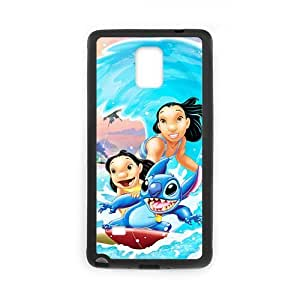 Lilo Stitch Galaxy Note 4 Case, Ohana Samsung Galaxy Note4 Cover, Covers for Note 4 (Laser Technology)