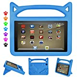 F i r e 7 2017 2015 Kids Case - Roasan Shockproof Protection Stable Stand Super Light Weight Durable Material New F i r e 7 inch Display (7th Gen 5th Gen) (Blue)
