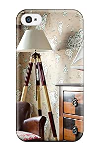 Durable Protector Case Cover With Travel-inspired Room With Tripod Floor Lamp Hot Design For Iphone 4/4s