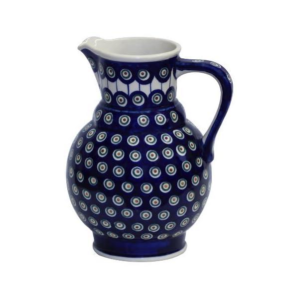 Boleslawiec Pottery Milk and water jug, 1.75L, Original Bunzlauer Keramik, Decor 8