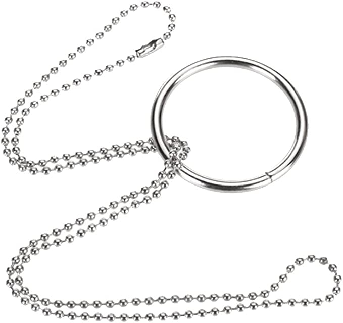 2E Magischen Ring Kette Metall Zaubertrick Requisiten Knoten I1T9 1X