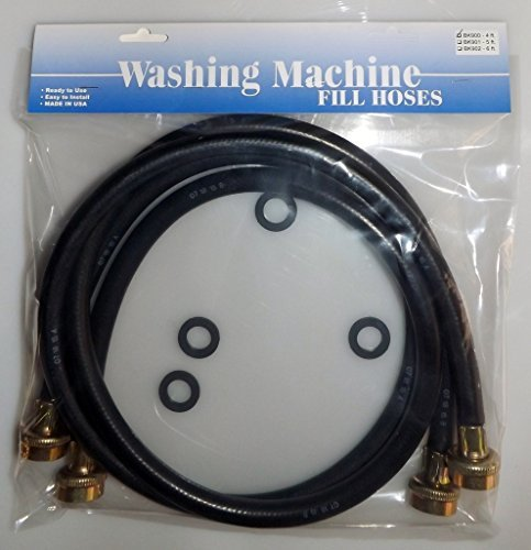 Washing Machine Fill Hoses w/washers 2-6' HOSE ASSEMBLES