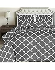 Utopia Bedding Printed Duvet Cover Set - Brushed Microfibre Duvet Cover with Pillowcases