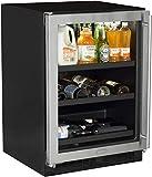 "Appliances : Marvel ML24BCG1LS Beverage Center with Door Left Side Hinge, 24"", Stainless Steel"