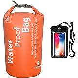 Freegrace Ultimate Lightweight Dry Sack - Dry Bag 10L Orange and Waterproof Case
