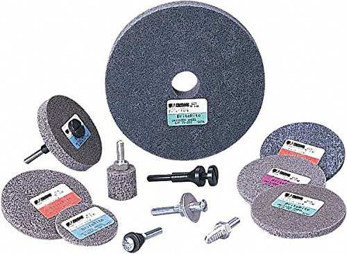 3'' Unitized Wheel, 1/4'' W, 1/4'' Mounting Size, Fine Silicon Carbide,pack of 10 by Standard Abrasives